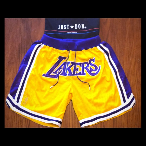 56eac05caab Just Don Lakers Shorts Size XL - 36 waist!
